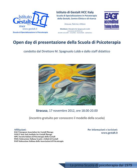 Open day di presentazione della Scuola di Psicoterapia Gestalt