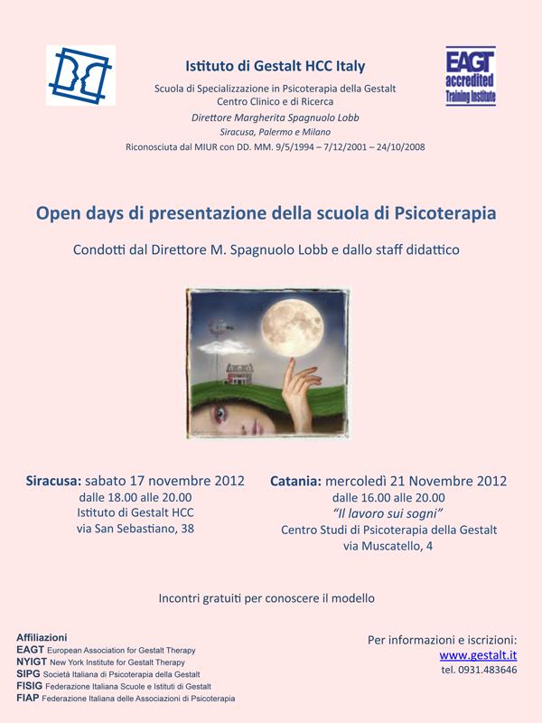 Open day presentazione Scuola Psicoterapia